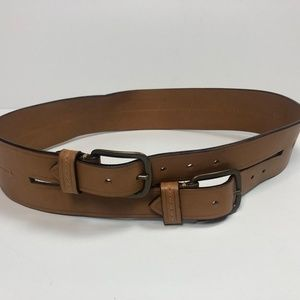 Lanvin Paris Made in Italy leather belt